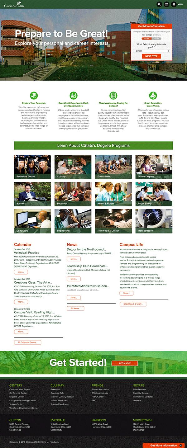 LWEBG built a new Drupal 7 website for Cincinnati State College