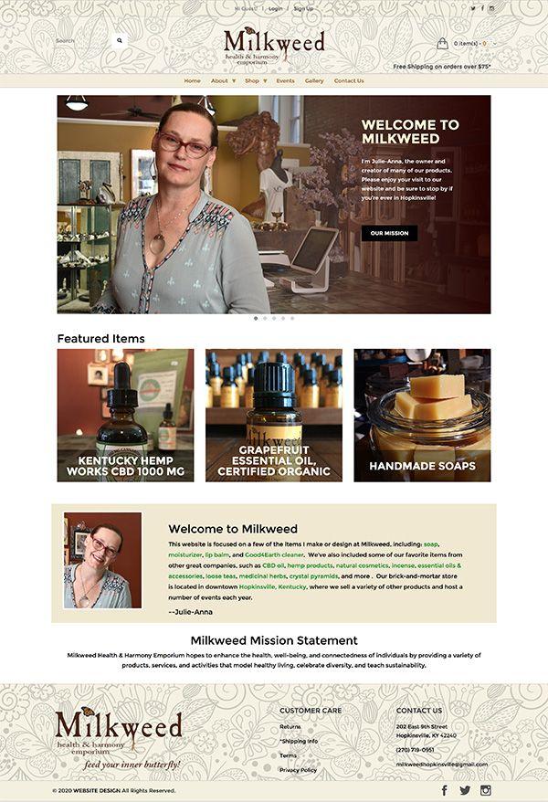 Milkweed homepage