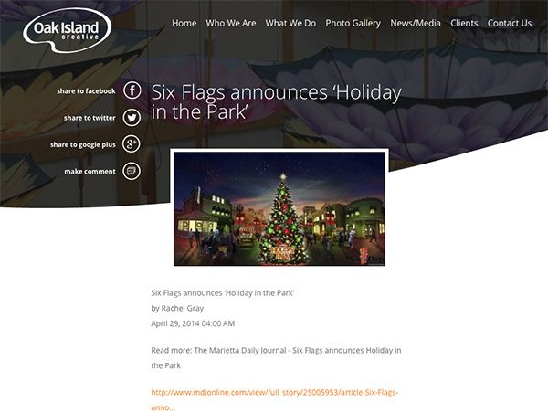 Oak Island Creative Internal Page