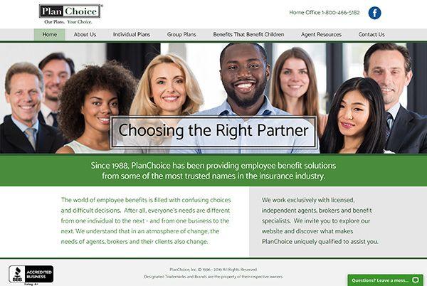 PlanChoice homepage screenshot