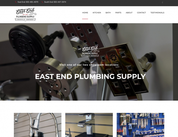 East End Plumbing Supply front page